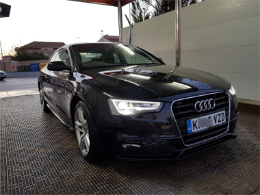 Audi A5 Coupe at Car Wash