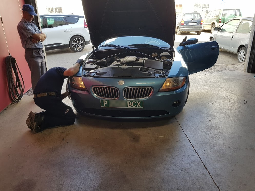 BMW Z4 at workshop