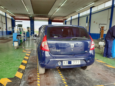 Dacia Sandero on weighscale