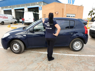 Dacia Sandero with import staff