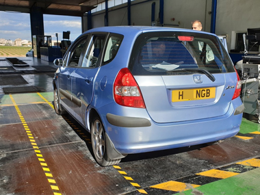 Honda Jazz at ITV test