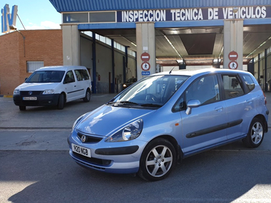 Honda Jazz outside ITV station in Murcia
