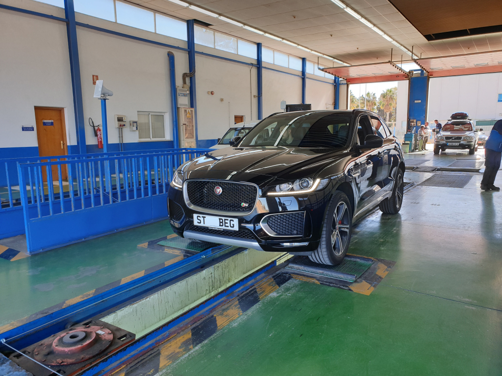 Jaguar F Pace during ITV test