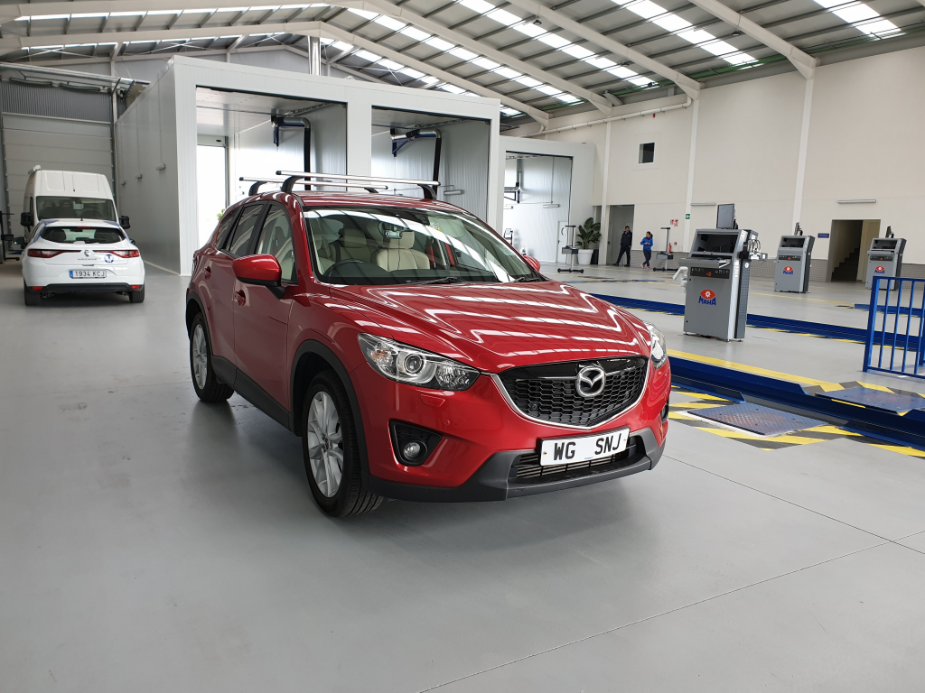 Mazda CX-5 inside ITV station