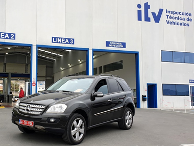 Mercedes ML320 at ITV Lorca