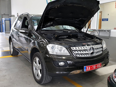 Mercedes ML320 CDI at ITV import test