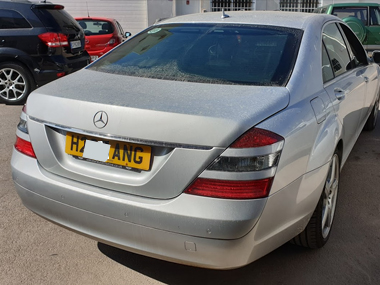 Mercedes S320 Brabus outside workshop