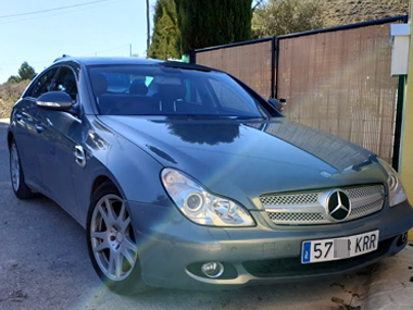 Mercedes CLS320 with new Spanish plates