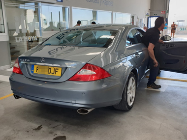 Mercedes CLS320 at ITV test centre