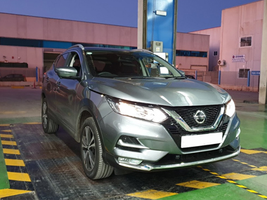 Nissan Qashqai at ITV test