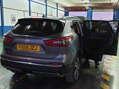 Nissan Qashqai at import test