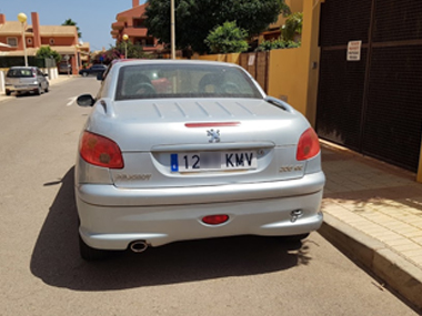 New Plates fitted to Peugeot 206cc