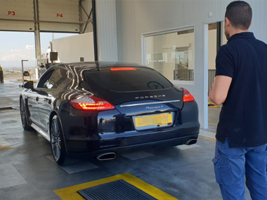 Porsche Panamera 4 Coupe at test centre