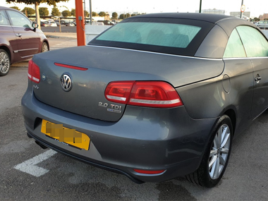 VW EOS at airport parking